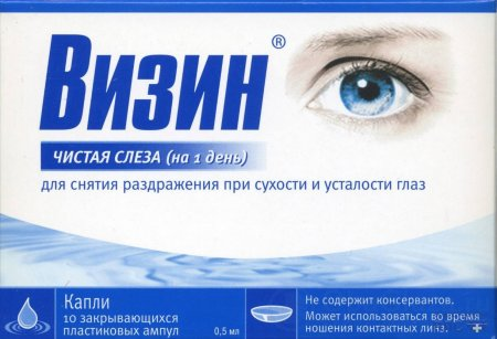 Увлажняющие глазные капли Визин Чистая слеза
